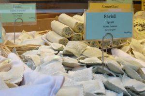 Ravioli Marktstand